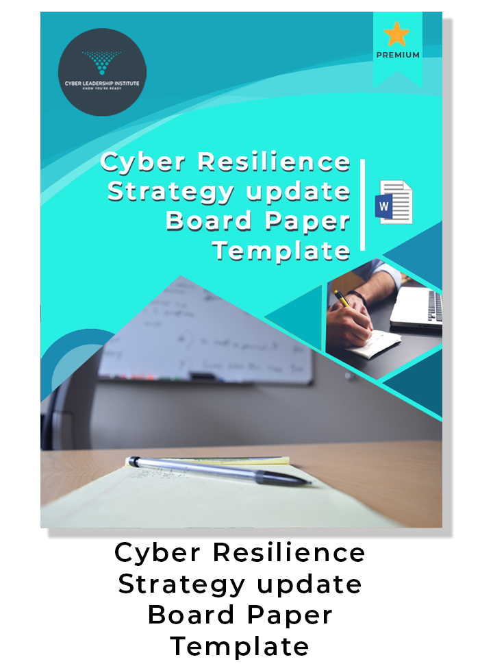 Cyber resilience strategy update Board Paper template