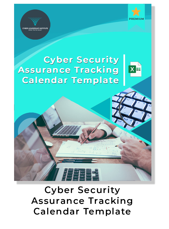 Cyber security assurance tracking Calendar Template