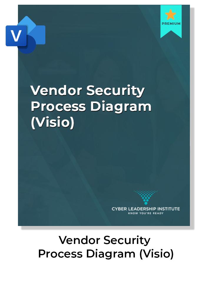 Visio vendor security process diagram