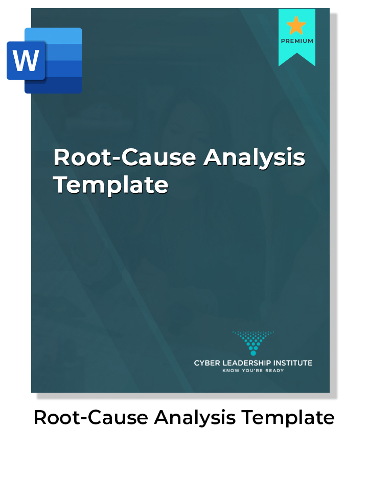 Cyber security training root-cause analysis template