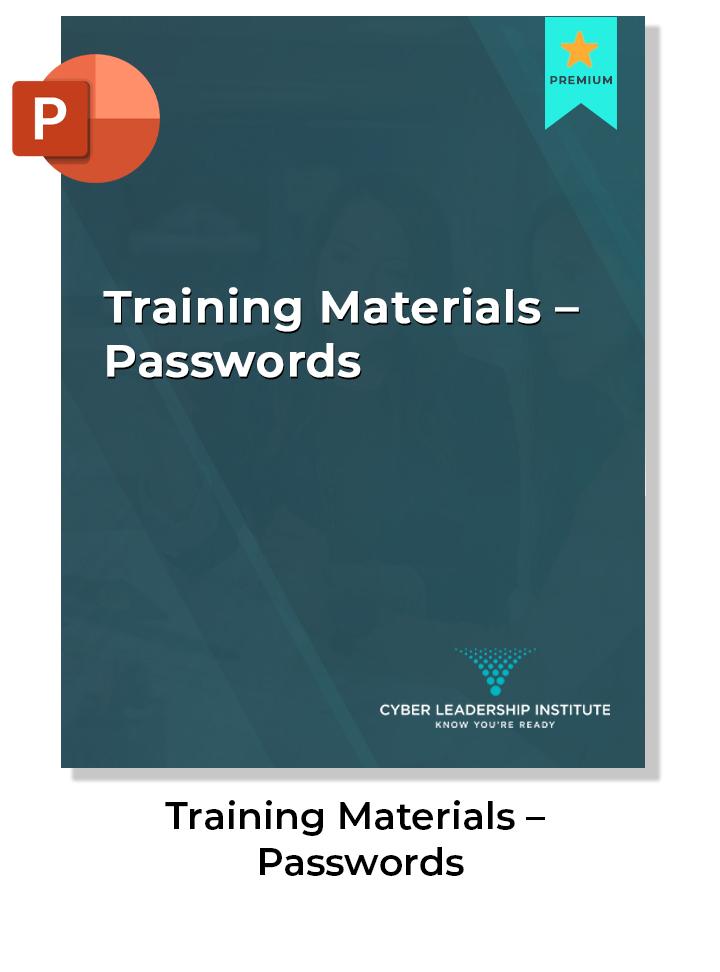 CISO training materials - password