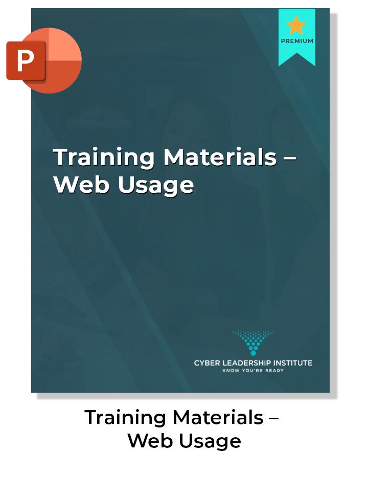 CISO training materials-web usage