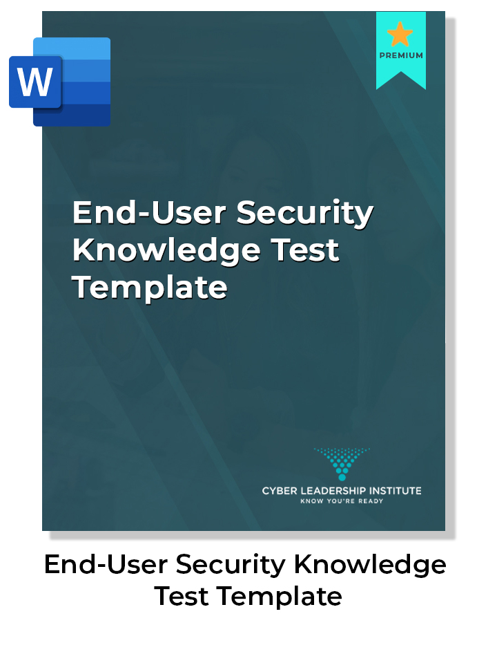 Cyber security knowledge test template