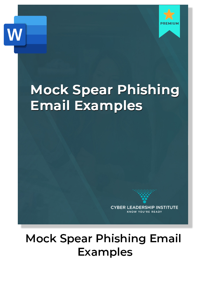 cyber security phishing email examples