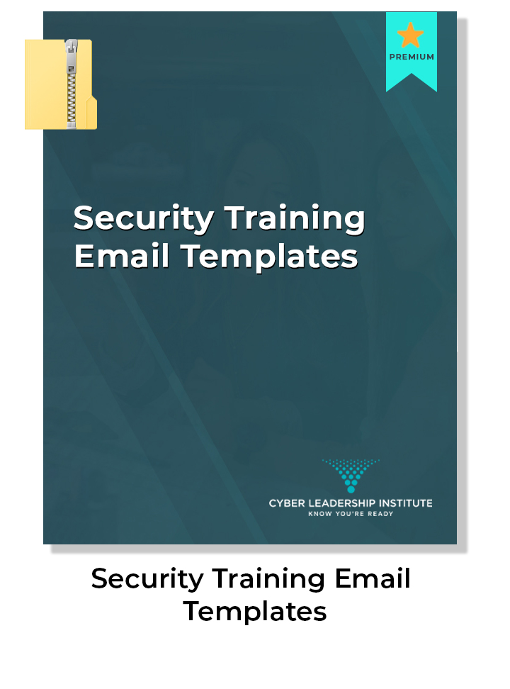 Cyber security training email templates