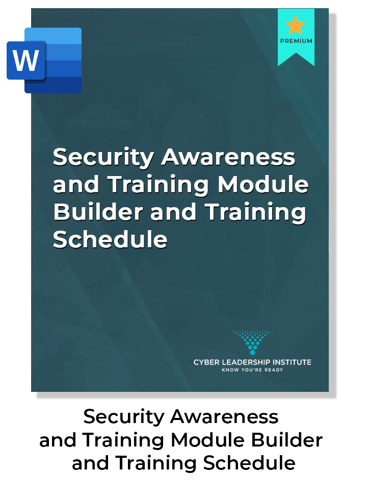 CISO training module builder and training schedule
