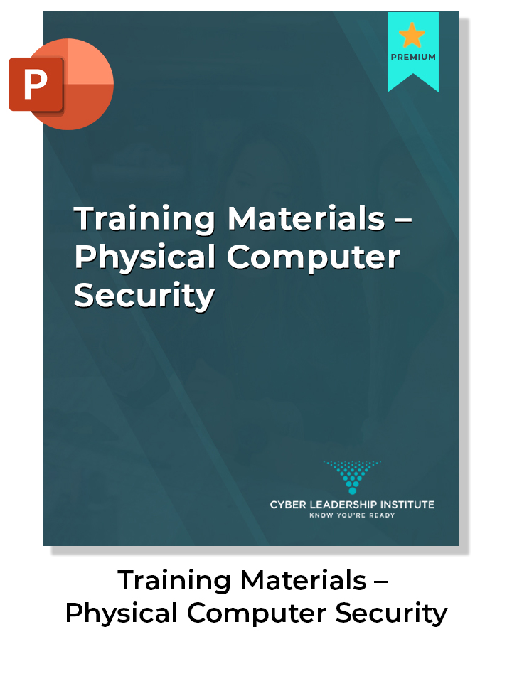 CISO training materials-physical computer security