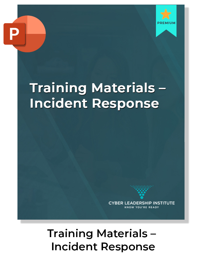 cyber security training materials-incident response