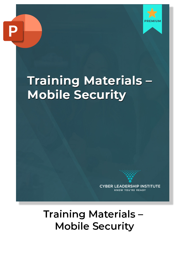 Cyber security training materials-mobile security