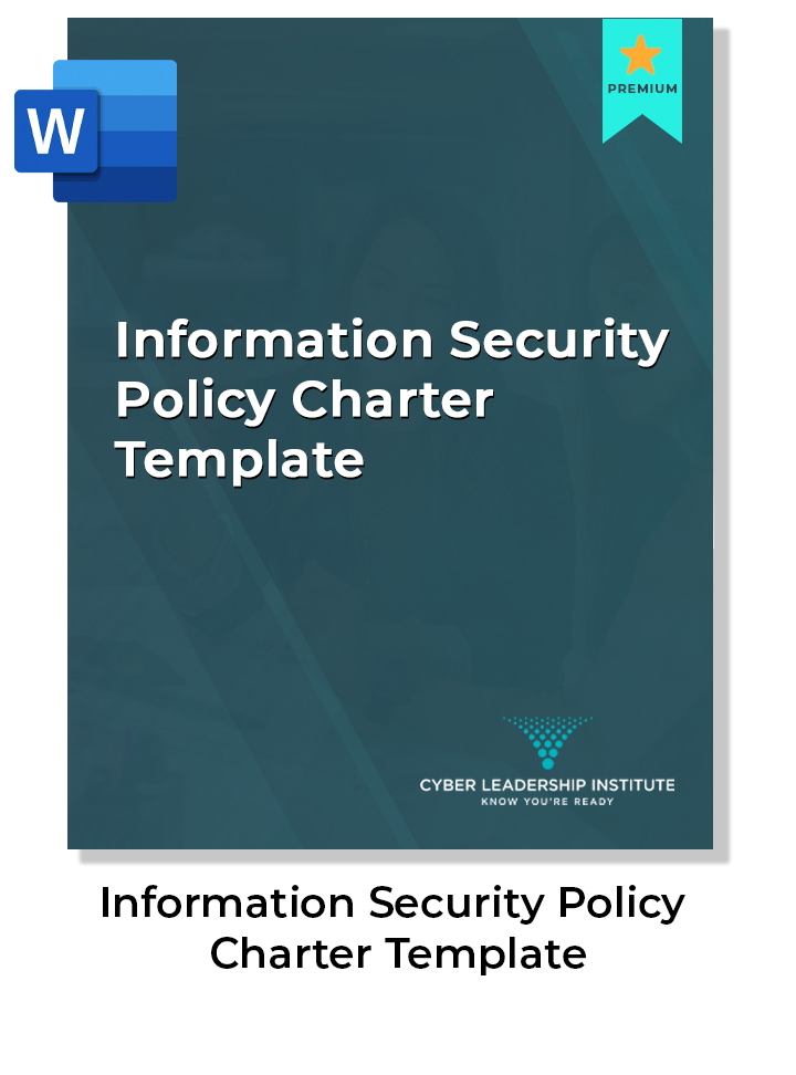 ciso leadership course and information security policy charter template