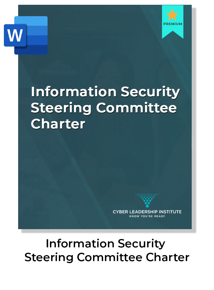CISO training - information security steering committee charter