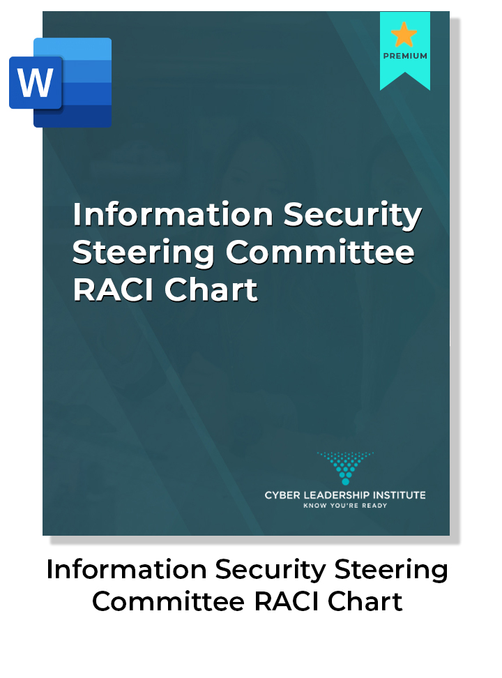 CISO information security steering committee raci chart