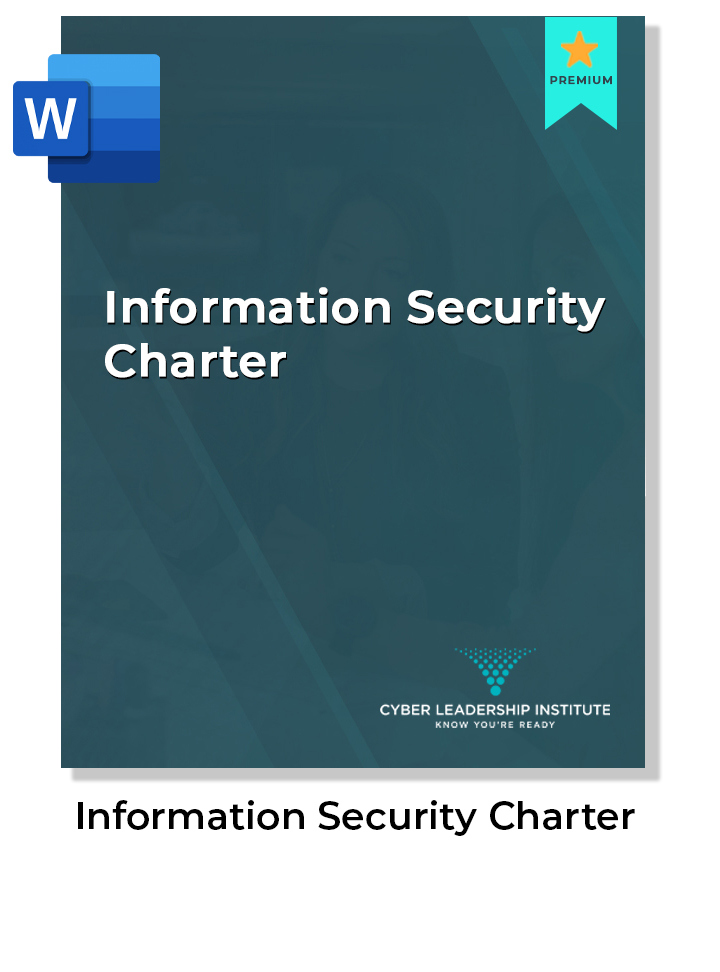 CISO coaching - information security charter